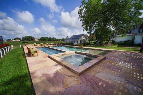 Outdoor pool at Great Oaks Recovery Center - Rehab near Houston, Texas